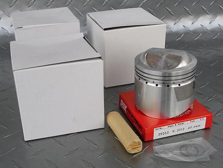 Standard bore, high compression pistons  KZ900 - KZRider